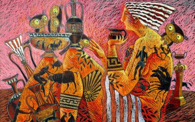 "Neues Ölgemälde ""Archaisce Kunst"""